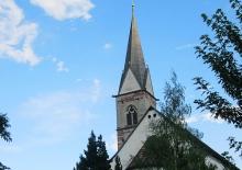 Die wunderschöne Pfarrkirche im Zentrum