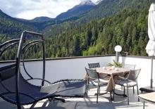 Die gemütliche Terrasse der Wohnung Lana