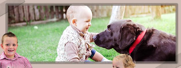 Kinderfreundlicher Hund